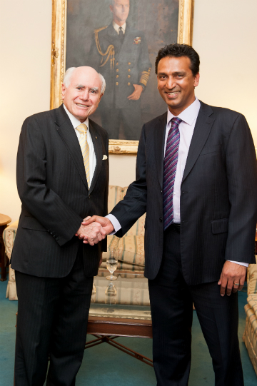 Vinay Sharma with Hon John Howard