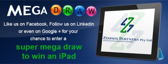 Enter into mega draw to win an iPad